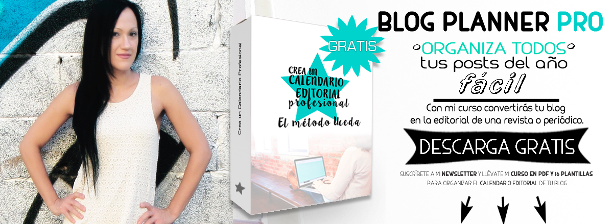 Calendario editorial para bloggers